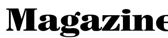 Magazine Heavy Regular Font