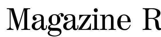 Magazine Regular Font