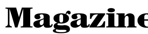MagazineHeavy Regular DB Font