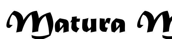 Matura MT Script Capitals font family - Typography