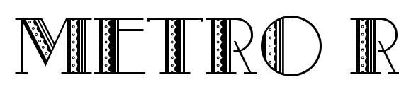 Metro Retro A Font