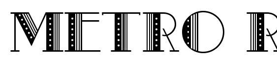 Metro Retro B Font