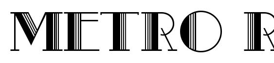 Metro Retro C Font