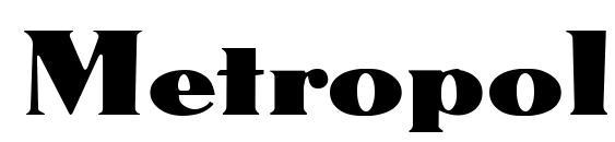Шрифт Metropolis DB