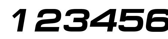 Minima Expanded SSi Bold Italic Font, Number Fonts
