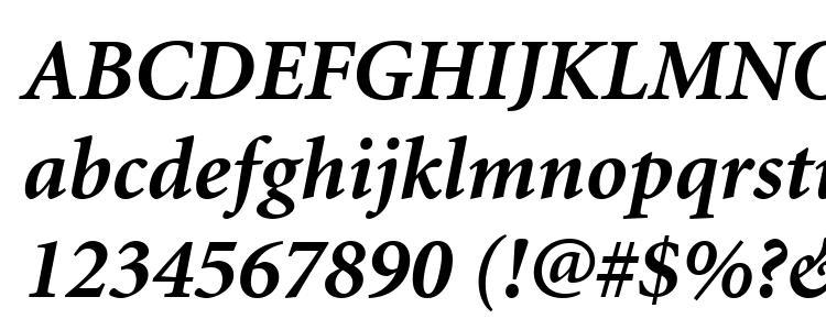 Minion-Bold font