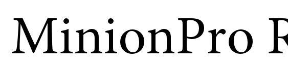 MinionPro Regular Font Download Free / LegionFonts