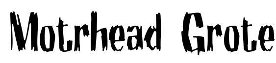 Motrhead Grotesk Font, PC Fonts