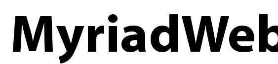 Myriad Web Font Download Free / LegionFonts