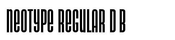 Neotype Regular DB Font