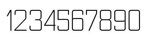 NesobriteScLt Regular Font, Number Fonts