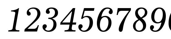 News 705 Italic BT Font, Number Fonts