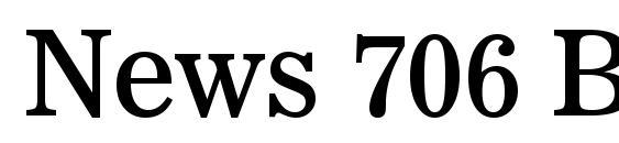 News 706 BT Font