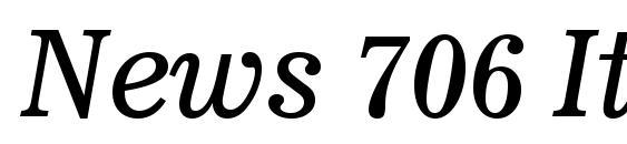 News 706 Italic BT font, free News 706 Italic BT font, preview News 706 Italic BT font