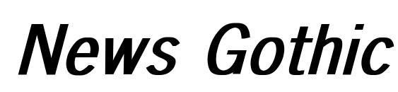 News Gothic Bold Italic Font