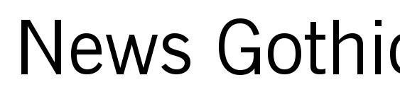 News Gothic BT Font