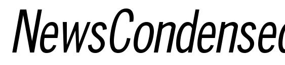 NewsCondensed Oblique Font