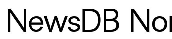 NewsDB Normal Font