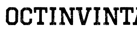 OctinVintageBRg Bold Font, Free Fonts