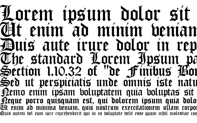 Specimens Old English Gothic Font Sample An Example Of Writing