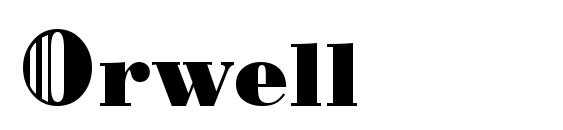 Шрифт Orwell