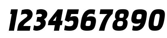 PakenhamBl Italic Font, Number Fonts