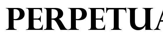 Perpetua Titling MT Полужирный Font, All Fonts
