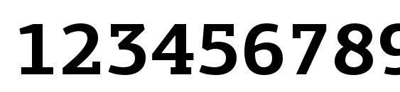 Шрифт PFAgoraSlabPro Bold, Шрифты для цифр и чисел