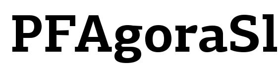 шрифт PFAgoraSlabPro Bold, бесплатный шрифт PFAgoraSlabPro Bold, предварительный просмотр шрифта PFAgoraSlabPro Bold
