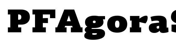 PFAgoraSlabPro UltraBlack Font