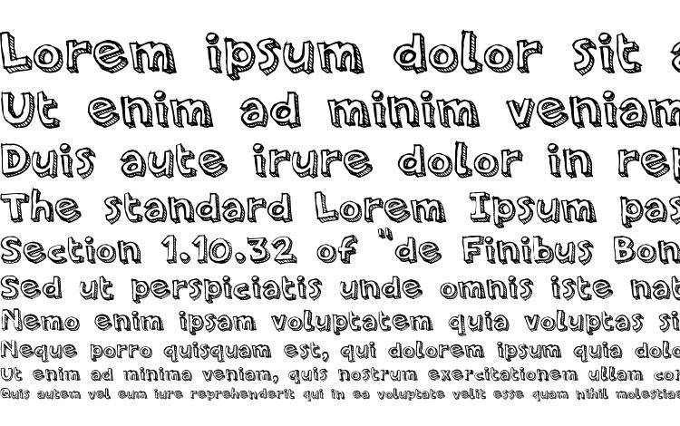 specimens PFAmateur LineShadow font, sample PFAmateur LineShadow font, an example of writing PFAmateur LineShadow font, review PFAmateur LineShadow font, preview PFAmateur LineShadow font, PFAmateur LineShadow font