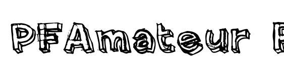 PFAmateur Rough font, free PFAmateur Rough font, preview PFAmateur Rough font