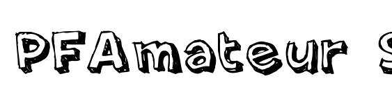 PFAmateur Shadow Font
