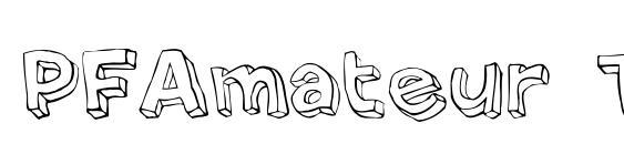 PFAmateur Thin Font