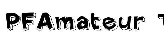 PFAmateur ThinSolid Font