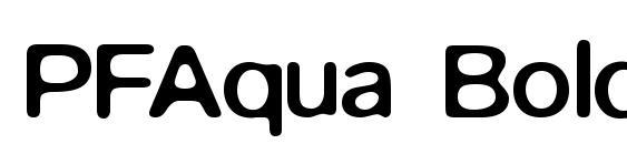 PFAqua Bold Unicode Font