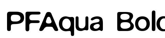PFAqua Bold Font