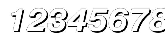 Pragmaticashadowc italic Font, Number Fonts