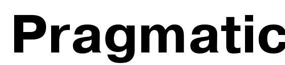 Шрифт PragmaticaTT Bold