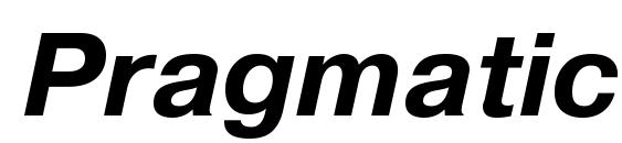 PragmaticaTT BoldItalic Font