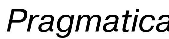 Шрифт PragmaticaTT Italic