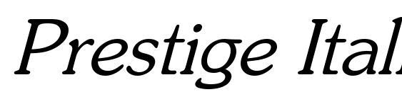 Prestige Italic Oblique Font