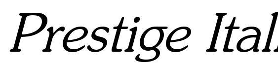 Prestige Italic Font