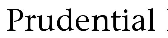 Prudential Regular Font