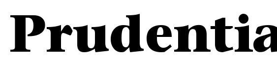 PrudentialHeavy Regular Font