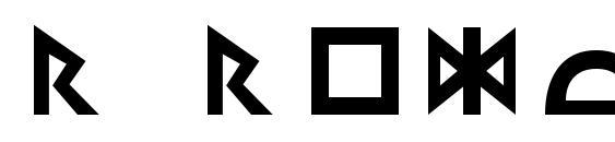 R regular Font
