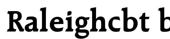 Raleighcbt bold Font, OTF Fonts