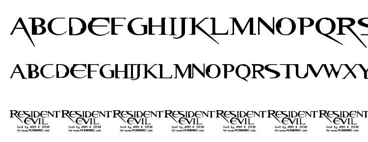 Resident Evil Font Download Free / LegionFonts