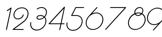 RhumbaScript Font, Number Fonts