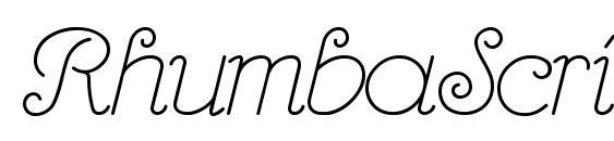 RhumbaScript Font, Free Fonts